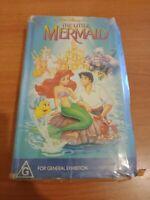 Rare Black Diamond The Little Mermaid Clamshell VHS Disney Children's