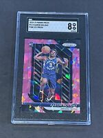 2018 Panini Prizm Pink Ice Refractor SGC 8 Aaron Holiday RC Low POP Rookie PSA ?