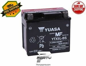 Yuasa YUAM32X5B Maintenance Free VRLA Battery - YTX5L-BS *FREE SHIPPING SAME DAY