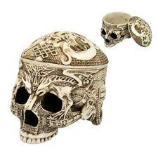 Trbetian Dragon Skull Tribal Tattoo Figurine Trinket Box Tibet Ancient Qiang
