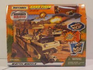 N RARE 1998 MATCHBOX MISSION BRAVO SAND TIGER TANK PLAYSET NEW SEALED !