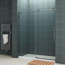 """SUNNY SHOWER Fully Frameless Sliding Shower Doors 60"""" Fully Stainless Steel"""