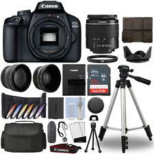Canon EOS 4000D / Rebel T100 SLR Camera+ 18-55mm 3 Lens Kit+ 32GB Best Value Kit