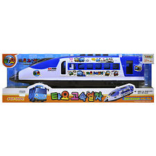 Tayo the Little Bus High Speed Trains Subway Toy Sound Light Children Kids Gift
