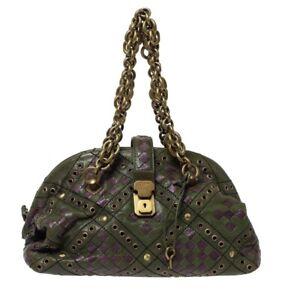 Bottega Veneta Leather Clutch, Limited Collection Purse Bag Green New