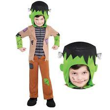 Kids Halloween Frankenstein Scary Monster Boys Horror Green Childs Book Costume