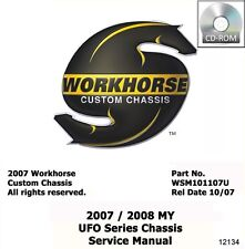 2007 2008 Workhorse UFO Series Shop Service Repair Manual CD Engine Drivetrain