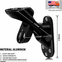 """2-Position Black Flag Pole Bracket Holder Aluminum 1"""" Diameter Mounting Holder"""