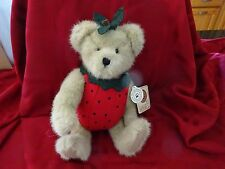 "Boyds Adorable Strawberry Bear - ""Hilby Jamm"" - New W/Tags!"
