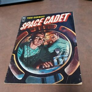 TOM CORBETT SPACE CADET 1952 DELL COMICS FOUR COLOR #421 golden age PAINTED CVR