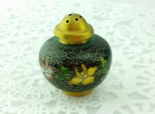 Vintage Chinese Cloisonne Small Salt Pepper Spice Shaker Nice Condition