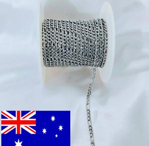 Bulk5 metre Stainless Steel Figaro Chain 3mm thick Australian stock