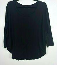 Groceries Apparel Top Womens Size S Organic Cotton Long Sleeve lightweight Black