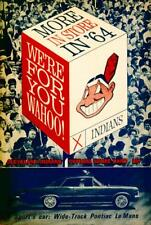 Official Baseball Game day Score Book Cleveland Indians vs Minnesota Twins 1964