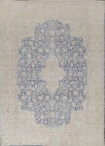 Muted Semi-Antique Floral Traditional DISTRESSED Area Rug Hand-knotted 10x13 ft