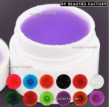 12 X Colori Colore Trasparente UV BUILDER GEL NAIL ART DECORAZIONE FAI DA TE 975d