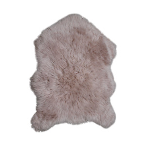 Faux Sheepskin Rug Pink 2x3 ft Single Pelt Synthetic Sheep Fur Genuine Lookalike