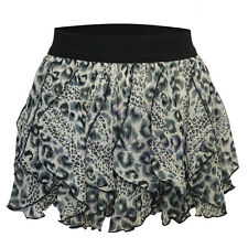 Ladies Womens Girls Leopard Print Elasticated Tutu Skirt Dance Hen Party Skirt