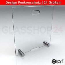 Design Glas Funkenschutz Ofenschutz Schutzgitter Kamin Ofen Funkenschutzgitter