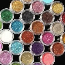 16 Loose Sparkle Glitter Dust Powder Eyeshadow Face Body Paint Craft Nail Art