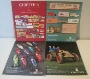4x Auction Calalogue Christies Toys Dolls Toy Soldiers - Great Reference Items
