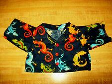 "Lizard Gecko Iguana Print long sleeve buttonup Shirt for 16"" Cpk Cabbage Patch K"