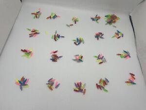 "Lot of Over 200 Vintage Lite Brite Short PEGS Light Bright Vibrant Colors 3/4"" ?"