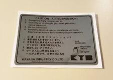 Adesivo Yamaha KAYABA tt 600 350 83 92 xt tdr 250 sticker suspension enduro fork