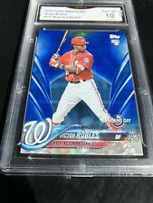 2018 Topps Opening Day Victor Robles Blue Foil RC Graded 10 💎 SP ROOKIE