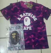 Men's  Bape A Bathing Ape Shirt Purple Camo Size Medium