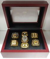 Pittsburgh Steelers - 7 Super Bowl Gold Ring set w/ Box. Roethlisburger Bradshaw