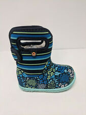 Bogs Baby Boots, Teal Multi, Toddlers 4 M