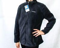 NEW COLUMBIA SUGARCREEK III JACKET Black / Blue Women's Plus Size 1X Fleece Coat