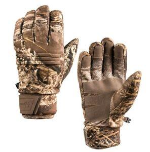 Realtree Max-1 Camo Adult Heavyweight Microban Heat Retention Gloves: M - L/XL
