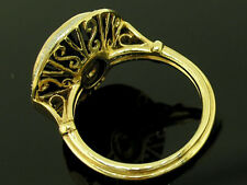 C1498 Superb Genuine 9ct SOLID Gold NATURAL Onyx Diamond Pearl Cocktail Ring