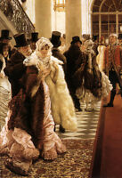 """Art Oil painting Joseph Tissot - The Woman of Fashion for party canvas 24""""x36"""""""