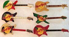 Hard Rock Cafe TIJUANA MEXICO 1990s Guitars 6 PIN LOT Collection Set RARES MINT