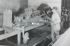 """Ford Tractor 2N assembly line painting chassis 12X18"""" Black & White Picture"""