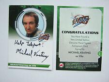 Blakes 7 SERIES 2 RARE VARIENT MICHAEL KEATING AUTOGRAPH CARD