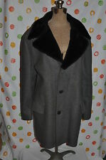 Windbreaker vintage gray Men 46 Wool Blend Coat pile sherpa lined