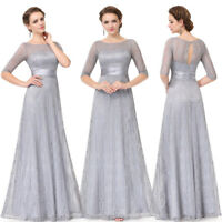 Ever-Pretty Half Sleeve Long Lace Bridesmaid Formal  Evening Party Dresses 08878