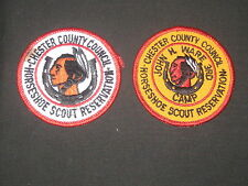 Horseshoe Scout Reservation 2 different Pocket Patches   cpp