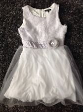 My Michelle Girl's Size 10 Dress Silver Tulle