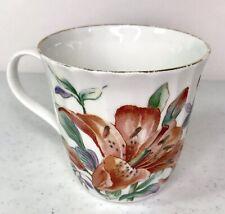 Crown Trent Tiger Lily Fine Bone China Mug Tea Cup Staffordshire England