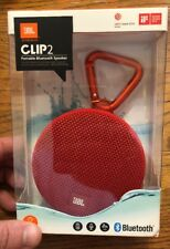 JBL Clip 2 Waterproof Portable Bluetooth Speaker - Red - Brand New.