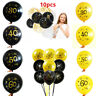 "10PCS 12"" Number Ages Latex Balloon 30 40 50 60 30th Happy Birthday Party Decor"