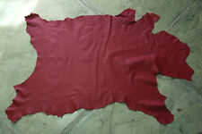 Red leather goat hide goatskin 8.5 sq. ft. for bookbinding & other crafts G54