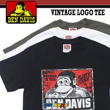 Ben Davis Mens T- Shirts Short Sleeve Tee Vintage Logo Cotton Old school Graphic