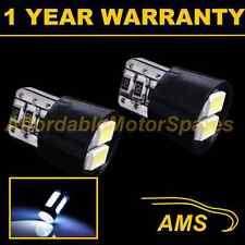 2X W5W T10 501 CANBUS ERROR FREE XENON WHITE 4 LED SMD SIDELIGHT BULBS SL102001