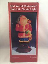Old World Christmas - Patriotic Santa Light (1996)